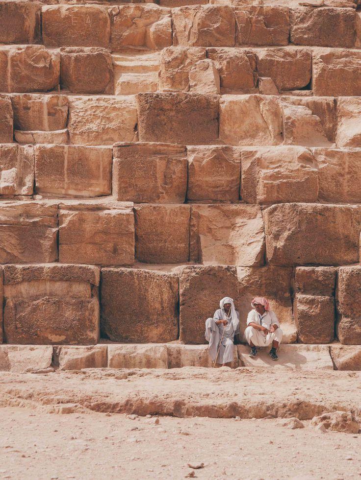 au pieds des pyramides de Gizeh