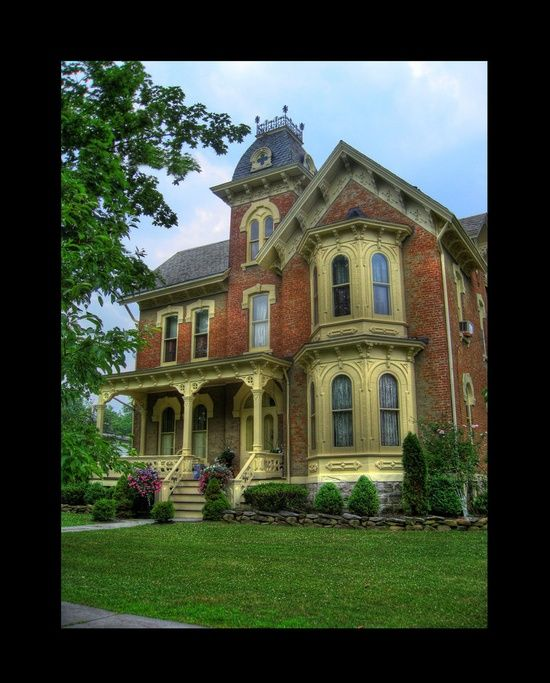 70 best images about victorian italianate style homes on for Brick victorian house