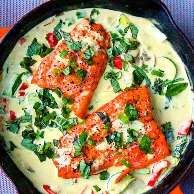 Coconut Green Curry Salmon // @thedefineddish. Find this recipe and more on our Salmon Feed at  http://www.thefeedfeed.com/salmon #feedfeed