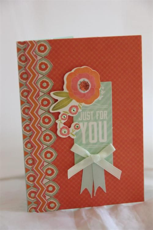 """Kaisercraft 'Spring Bloom' card #1 """"Just for You"""" by Helen of Helen's Card Designs ~ Cards !"""