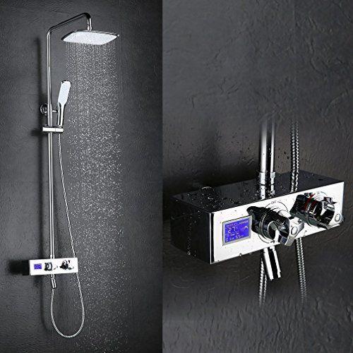 Kinse colonne de douche thermostatique digital mitigeur - Reglage temperature mitigeur thermostatique douche ...