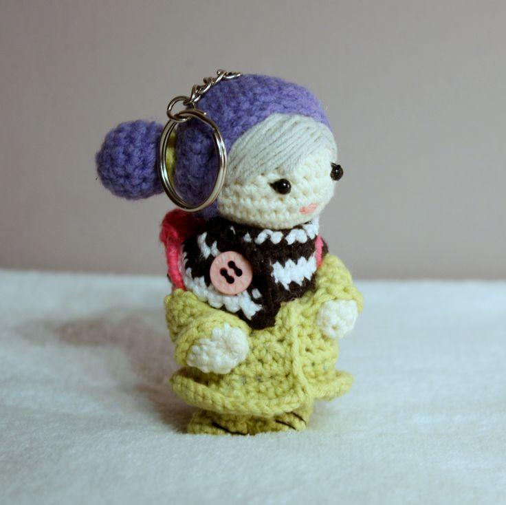 Amigurumi girl #amigurumi #amigurumis #littlegirl #doll #crochet #szydełkowa #keychain #sweet #colour #kolorowa #rainbow