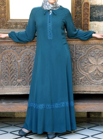 SHUKR Islamic Clothing   Tayyiba Lace Dress Lacey and long - perfectly modest!