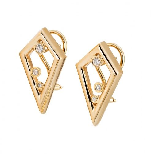 #MESH NY PURVIKA II #EARRINGS $2400 Second generation #Purvika Earrings are designed with #Diamonds and #Omega backs for the extra snugness and security many of us desire.  Purvika II are designed in 14k and come in yellow, pink or white gold.  These earrings are beautiful statement pieces for any occasion