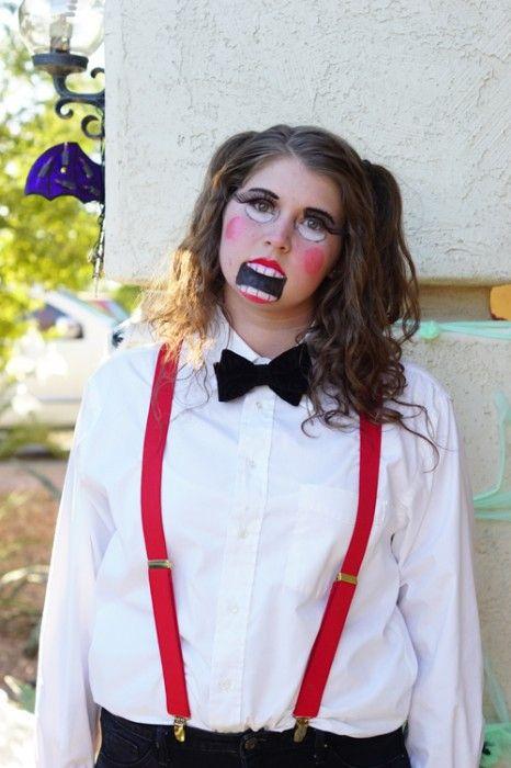 Ventriloquist Dummy Costume U0026 Makeup | Ventriloquist Doll Halloween Costume Contest And ...
