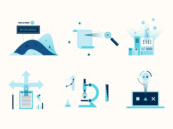 Some illustrations I did for a pitch to help explain pieces of our media and analytics process.