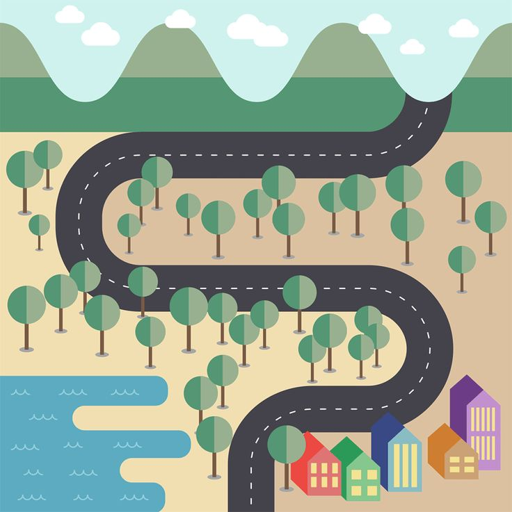 There's some fantastic examples of flat style map designs out there on the web that depict a city or country with ultra simplified illustrations with basic shapes and flat colours. I really fancied giving the style a try myself, so I thought 'why not make a tutorial to share my process with others?!'. Follow along …