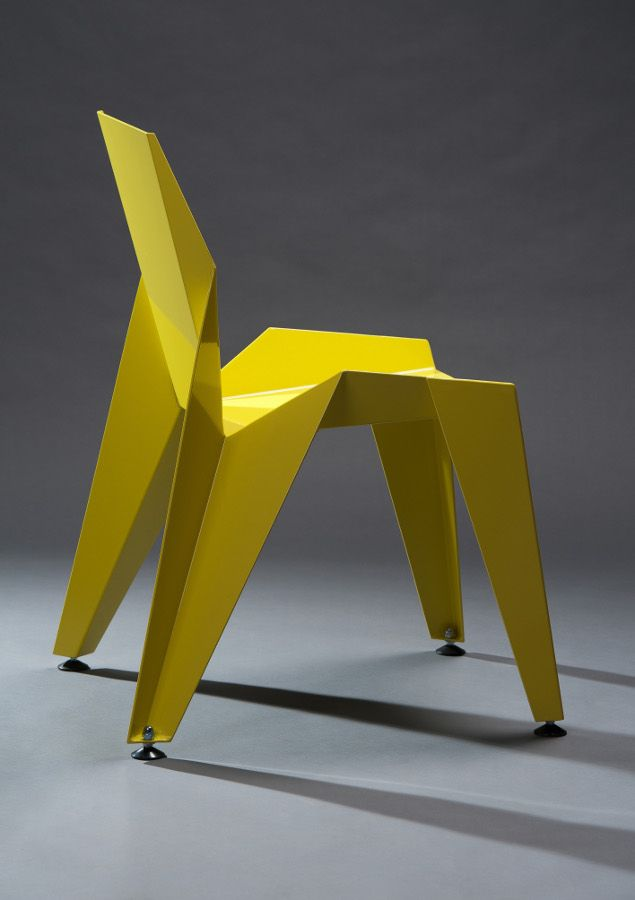 EDGE #chair by Novague inspired by #origami #design #yellow #colour