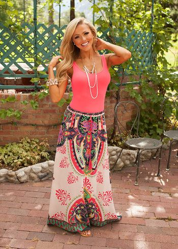 Online boutique. Best outfits. Bollywood Inspired Skirt Blush - Modern Vintage Boutique