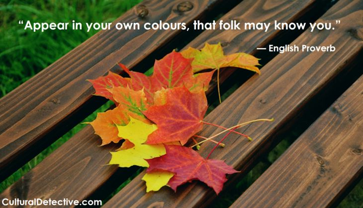 """""""Appear in your own colours, that folk may know you""""  #England #Proverb #intercultural #unity #respect #team #global #diversity"""