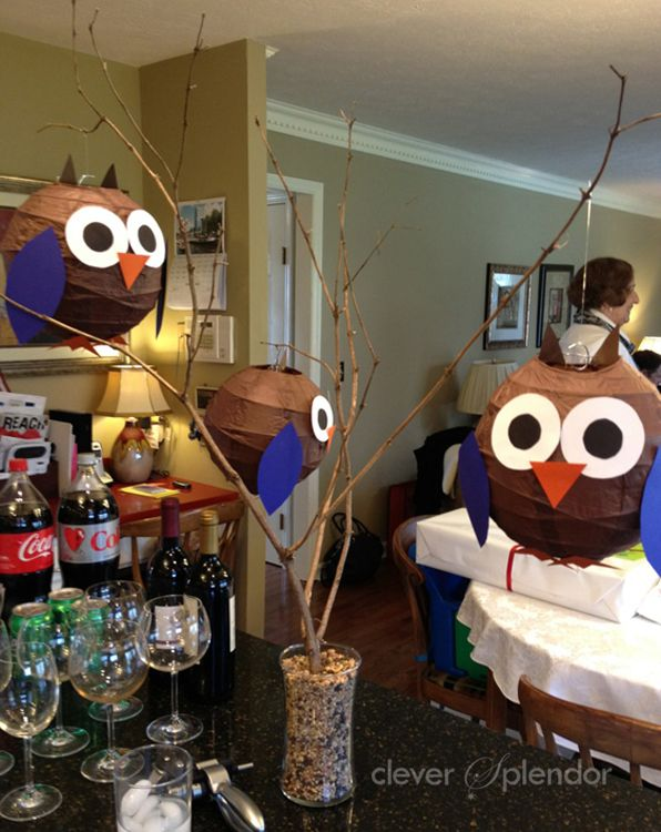 super cute owl decor owls made out of paper lanterns