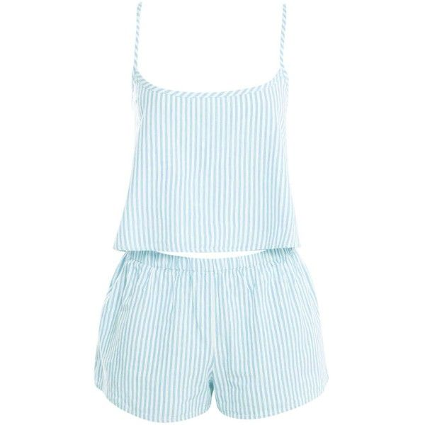 Boohoo Mary Woven Stripe Crop Cami & Shorts Night Set ($16) ❤ liked on Polyvore featuring intimates, sleepwear, pajamas, striped cami, cropped camisole, cotton sleepwear, striped pjs and striped pajama set