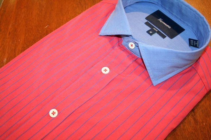 Faconnable  Strpe  Sport Shirt  Red   #Mondo #Uomo #Naples #Fashion