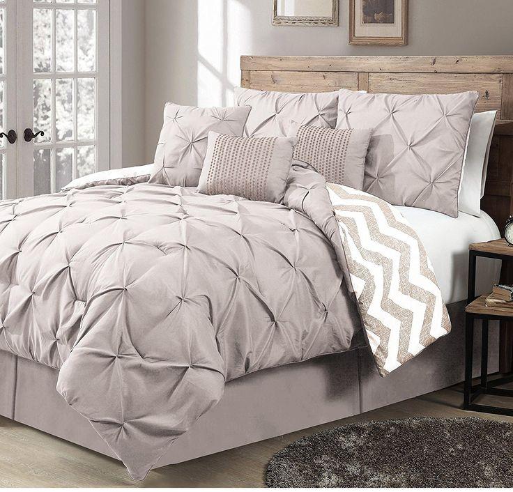 Sale Price : $108.99  Order it Here=> https://diamondhomeusa.com/products/taupe-pintuck-pleated-chevron-comforter-king-set-elegant-highend-geometric-textured-pinch-puckered-design-zig-zag-stripes-printed-bedding-vivid-solid-color-unisex?utm_campaign=outfy_sm_1510895272_903&utm_medium=socialmedia_post&utm_source=pinterest   Taupe Pintuck Pleated Chevron Comforter King Set Elegant High End Geometric Textured Pinch Puckered Design Zig Zag Stripes Printed Bedding Vivid Solid   Shop Diamond Home…
