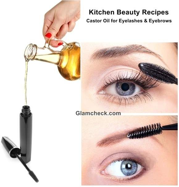 Kitchen Beauty Recipes : Castor Oil for Eyelashes and Eyebrows