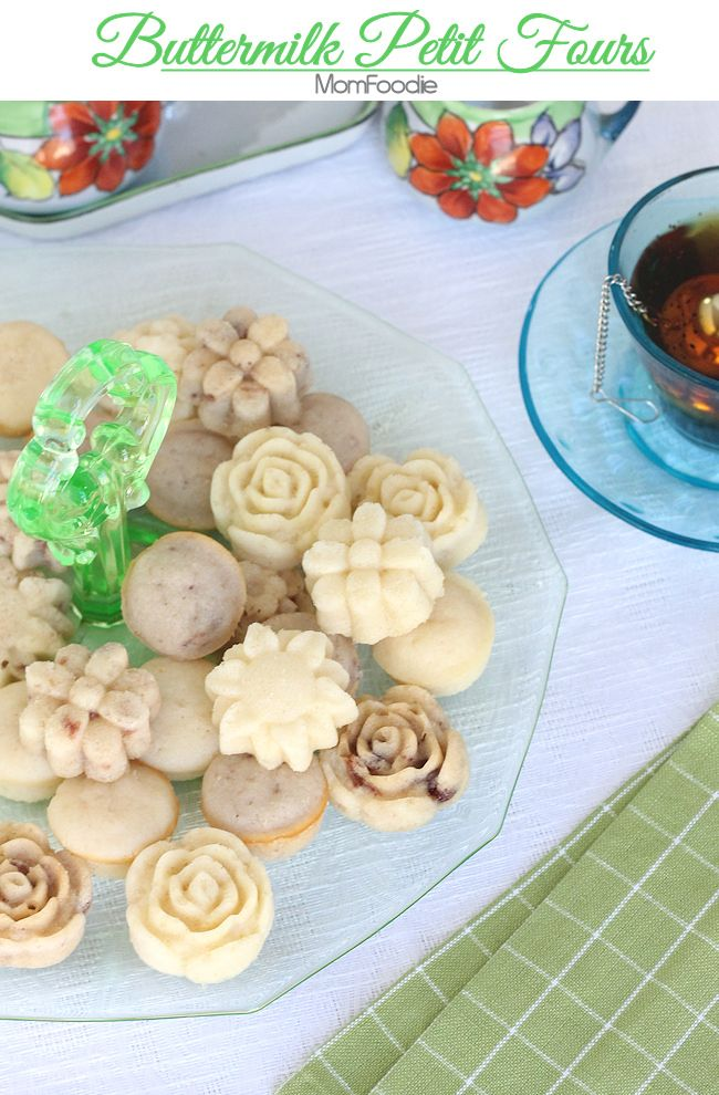 Buttermilk Petit Fours Recipe - {Mom Foodie}
