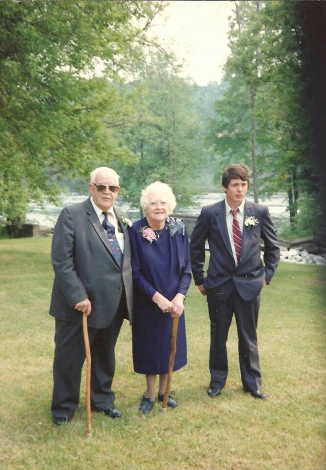 Grandpa & Grandma Harvey & David Harvey.