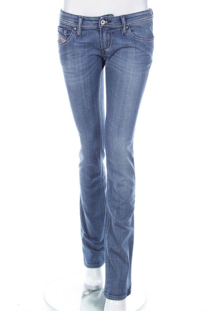 BNWT NEW * DIESEL * WOMEN'S LOWKY 008IG 8IG JEANS STRETCH STRAIGHT W28 L34 28x34 #DIESEL #Leggings
