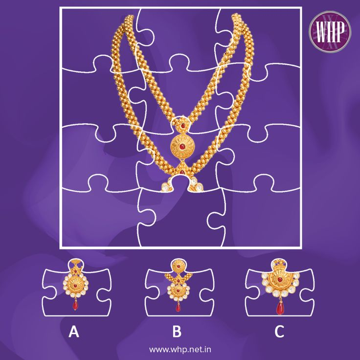 Here's a little puzzle for you to complete! Which piece completes this traditional Gold Navinya Thushi necklace? #WhpPuzzle #WHP #WhpJewellers