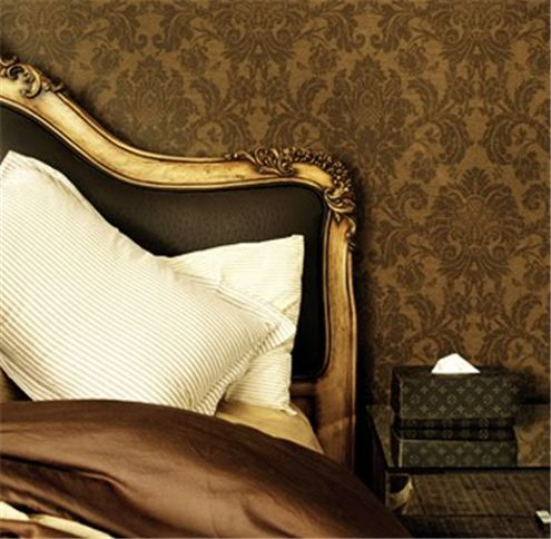 Chocolate brown looks luxurious paired with warm gold.