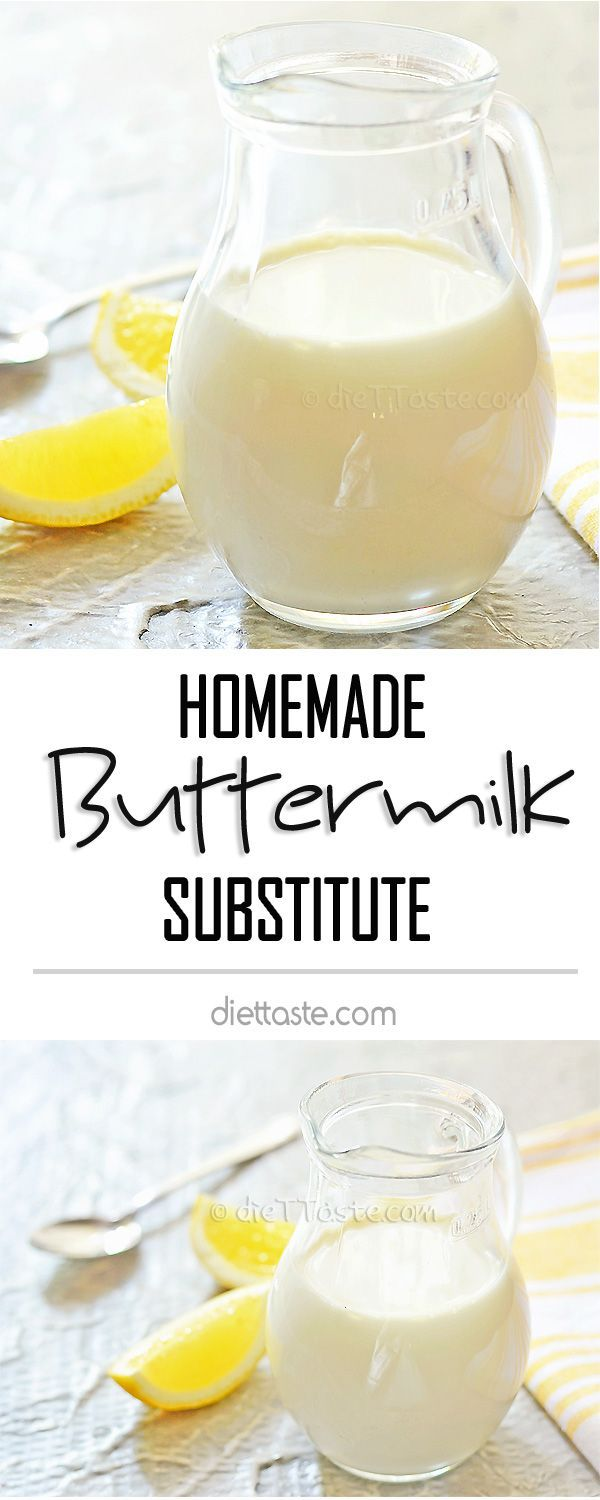 Homemade Buttermilk Substitute - easy way to get buttermilk substitute in 10 minutes using 2 ingredients that you certainly have in your fridge