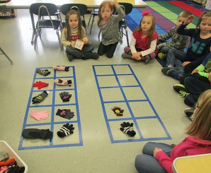 Kindergarten: Holding Hands and Sticking Together: The Mitten