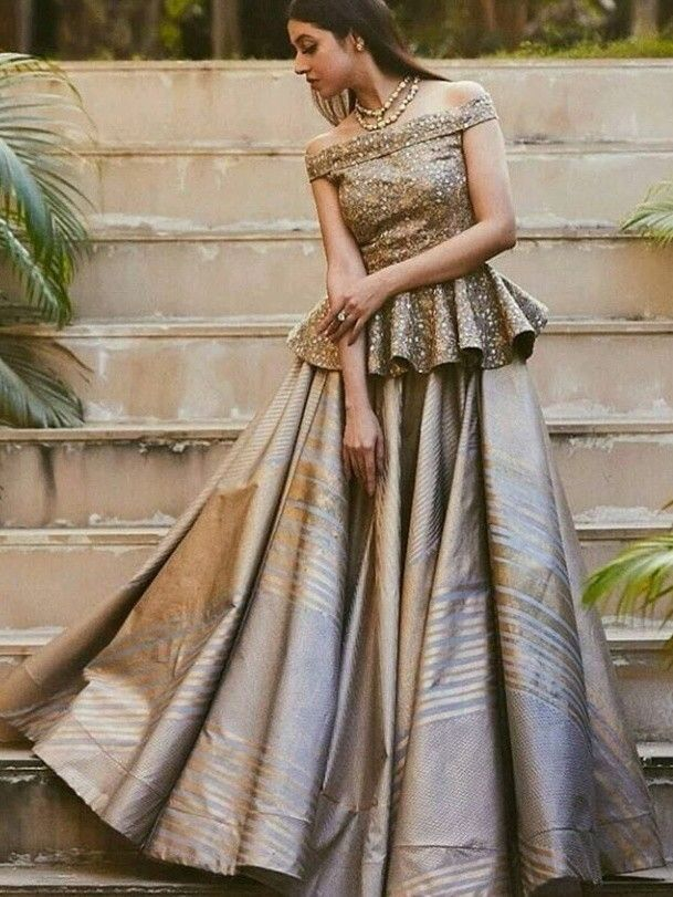a5f521be01 Different Peplum Lehenga Styles And Where To Shop Them | Brides ...