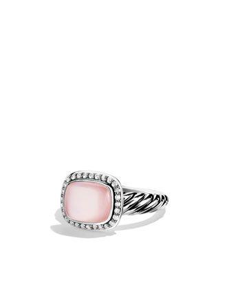 David Yurman Noblesse Ring with Rose Quartz and Diamonds - Neiman Marcus