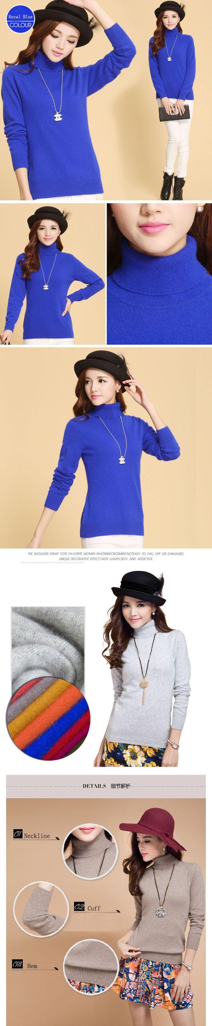 nice 2015 new winter turtleneck sweater Women Korean Women Slim thick cashmere sweater bottoming shirt