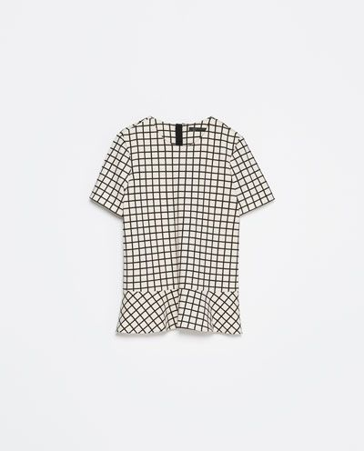 Image 8 of CHECKED TOP from Zara