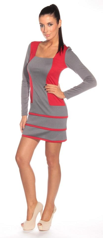 red and grey - exciting combination #shinefashion