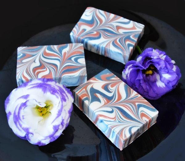 Receta Jabon casero marmoleado - how to make soap with marbling techniques
