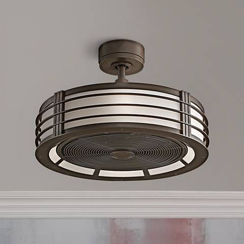 """23"""" Fanimation Beckwith Oil-Rubbed Bronze Caged Ceiling Fan - #4W403   Lamps Plus"""