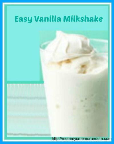 Easy Vanilla Milkshake