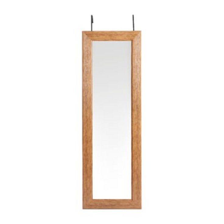 XENOS - Folder 17 2016 - Spiegel deurhanger - donker hout - 44x134 cm