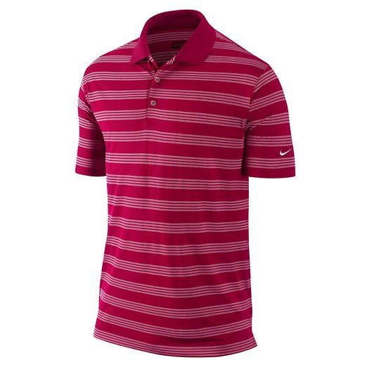 These comfortable feeling mens tech core stripe golf polo shirts by Nike offer enhanced range of motion due to the stretch fabric material