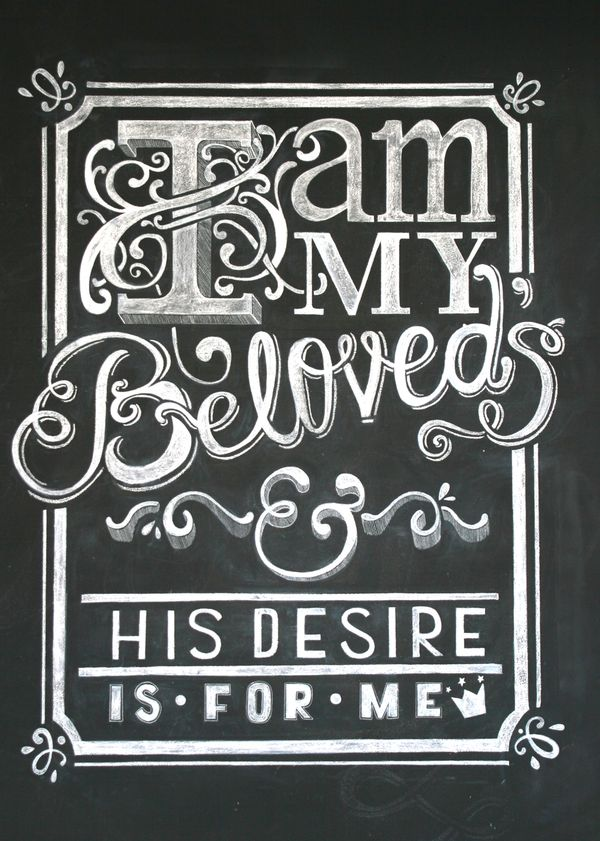 """I Am"" Series by Natalie Krick, via Behance #chalkboard #art #typography #handlettering"
