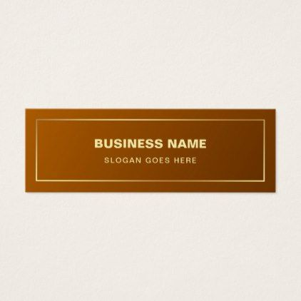 Gold Effect Plain Professional Modern Elegant Mini Business Card - attorney lawyer business personalize unique counsel
