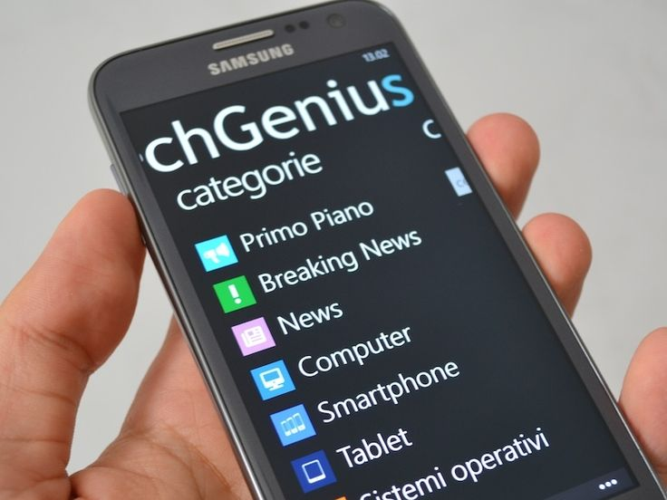 L'applicazione ufficiale TechGenius per Windows Phone in tutto il suo splendore. Disponibile gratuitamente sul Windows Phone Store -> http://www.windowsphone.com/it-it/store/app/techgenius/cf10b...