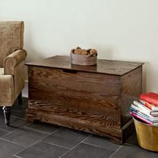 How to build a storage chest by  joining oak lumber with wood dowels to create a modern take on Shaker-style storage. | Photo: Ryan Benyi | thisoldhouse.com