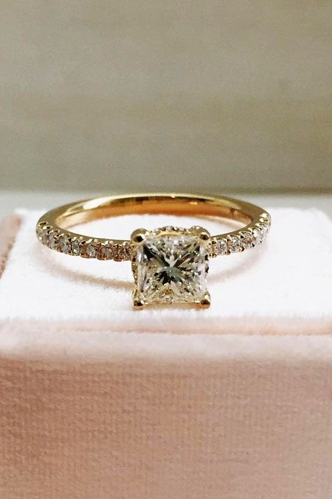 27 The Best Yellow Gold Engagement Rings From Pinterest Yellow Gold Engagement Rings Wedding Rings Engagement Yellow Gold Engagement