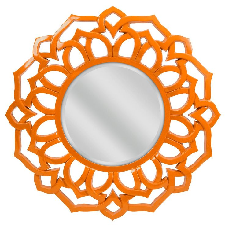 Sunburst Petal Mirror In Orange Reflect Your Style