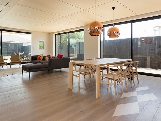 Grey washed Oak floor - Tauranga residence - Designer Flooring   French Oak   Real Wood Floors   Imitation Wood Floors   Solid Wood Flooring