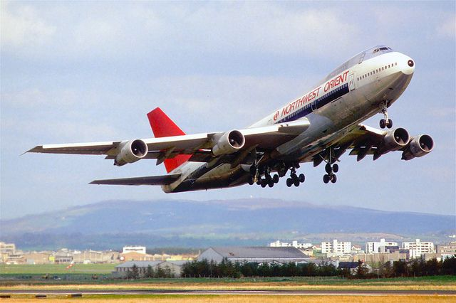 Northwest Orient Airlines Boeing 747-151; N605US@SNN, September 1986 by Aero Icarus, via Flickr