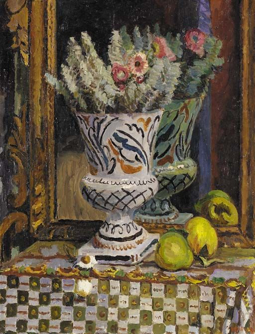 Cotton lavender and quinces, Vanessa Bell. English Painter (1879 - 1961) Member of the Bloomsbury group, and the sister of Virginia Woolf.