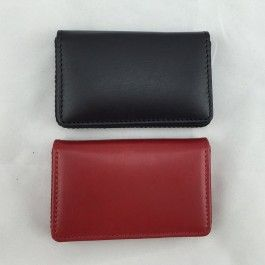 New Genuine Leather Mens Womens  Credit Card Holder Wallet Full Grain Leather