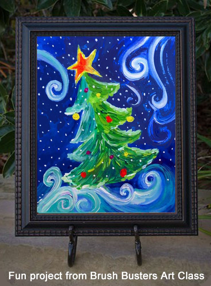 We had fun painting this tree in every color and design we could think of!