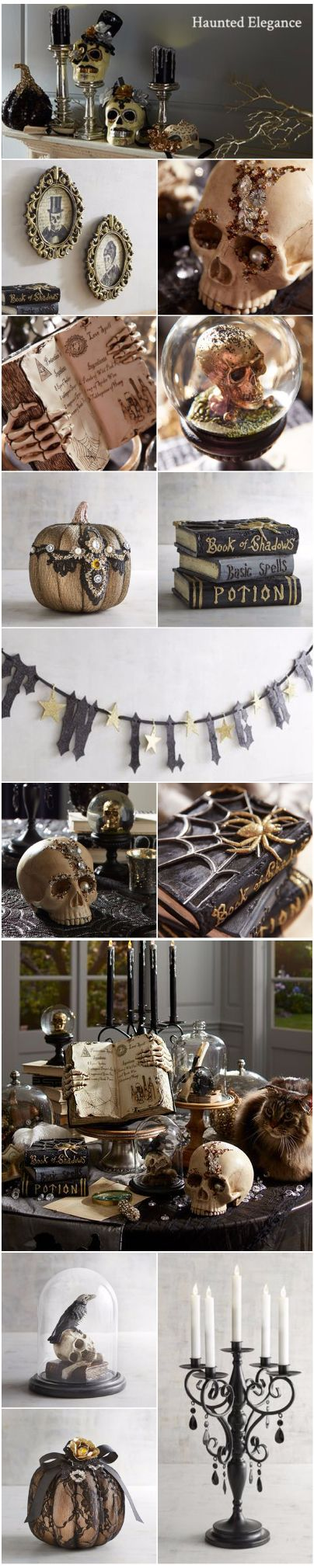 259 best Black & Gold Glam Gala Halloween Party Decorating & Food ...