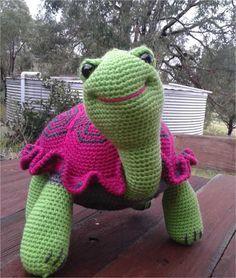 Free #Crochet Tortoise Pattern Translation, stuffed toy, #haken, gratis patroon (Engels), schildpad, knuffel