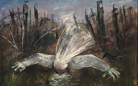 Arthur Boyd - Bride Drinking from a Creek